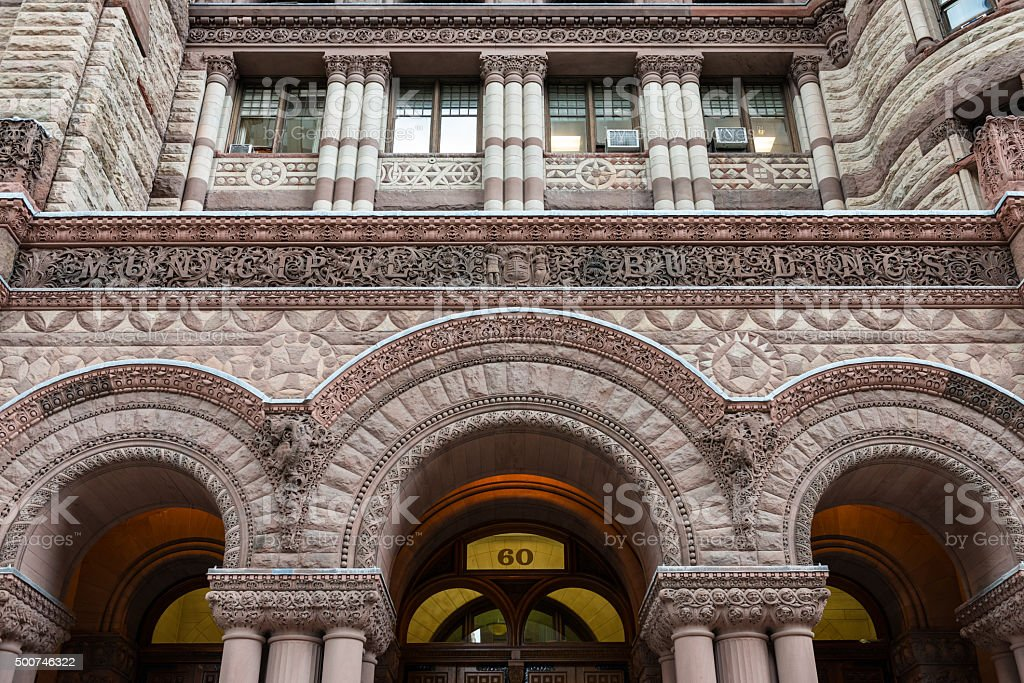 Facade of the Old City Hall in Toronto stock photo