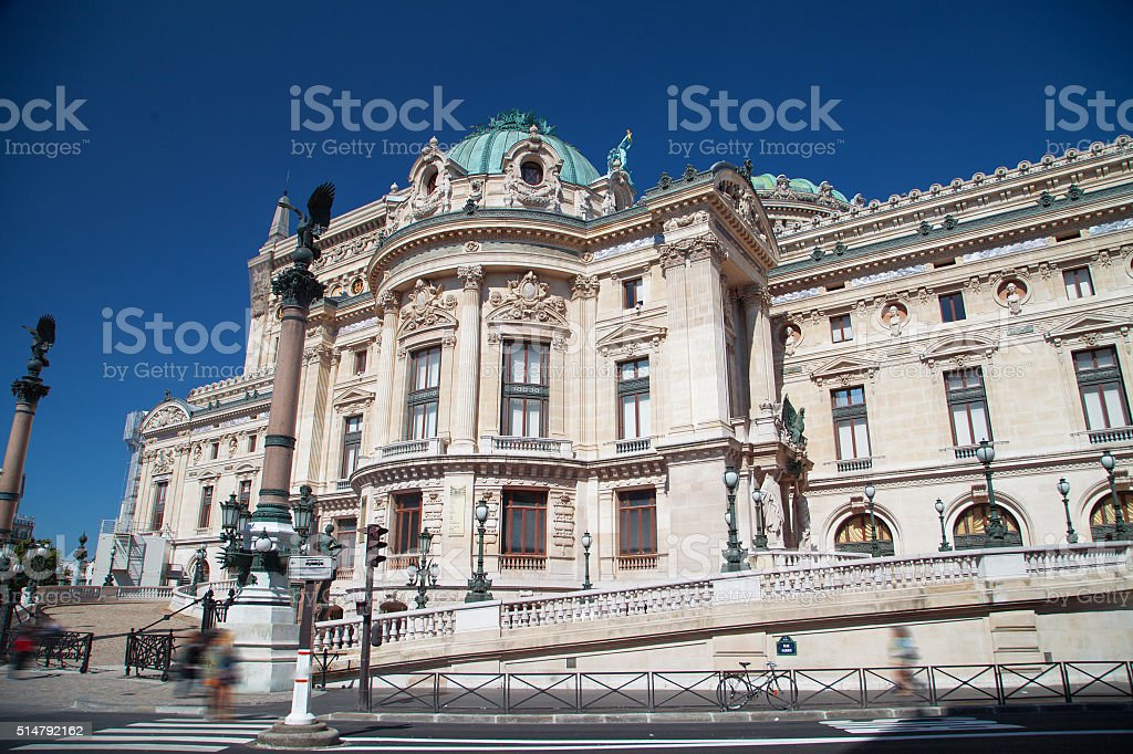 Facade of The Opera or Palace Garnier stock photo