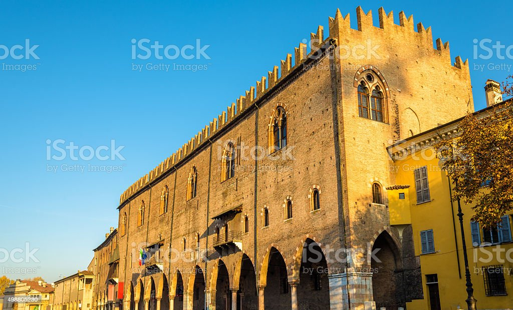 Facade of the Palazzo Ducale in Mantua - Italy stock photo