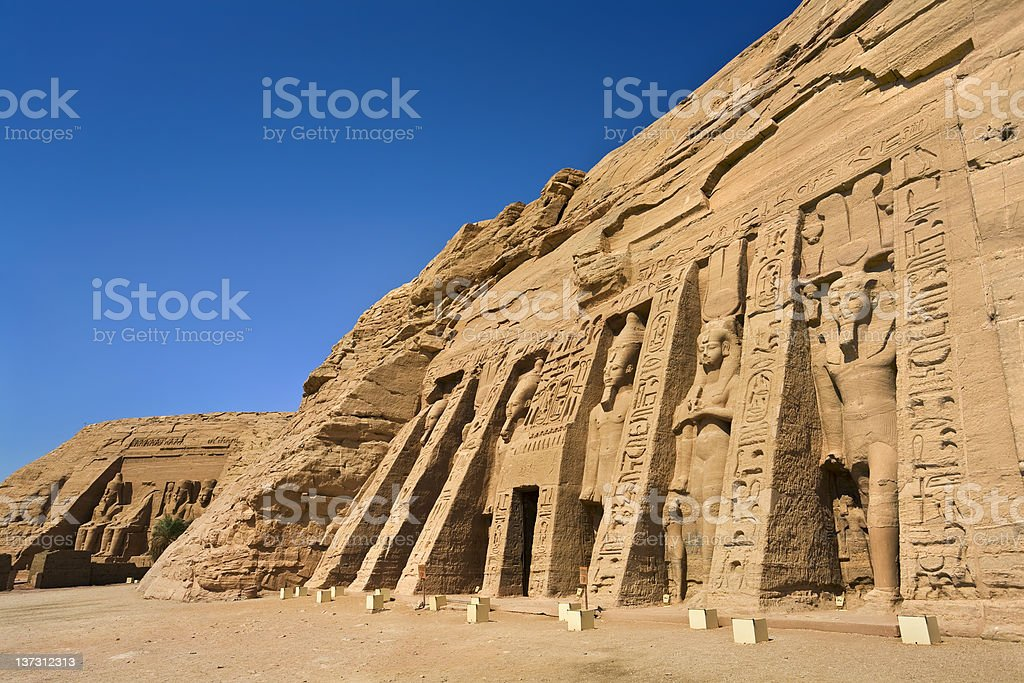 Facade of the Small Temple at Abu Simbel royalty-free stock photo
