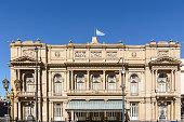 Facade of the Teatro Colon in Buenos Aires (Argentina)
