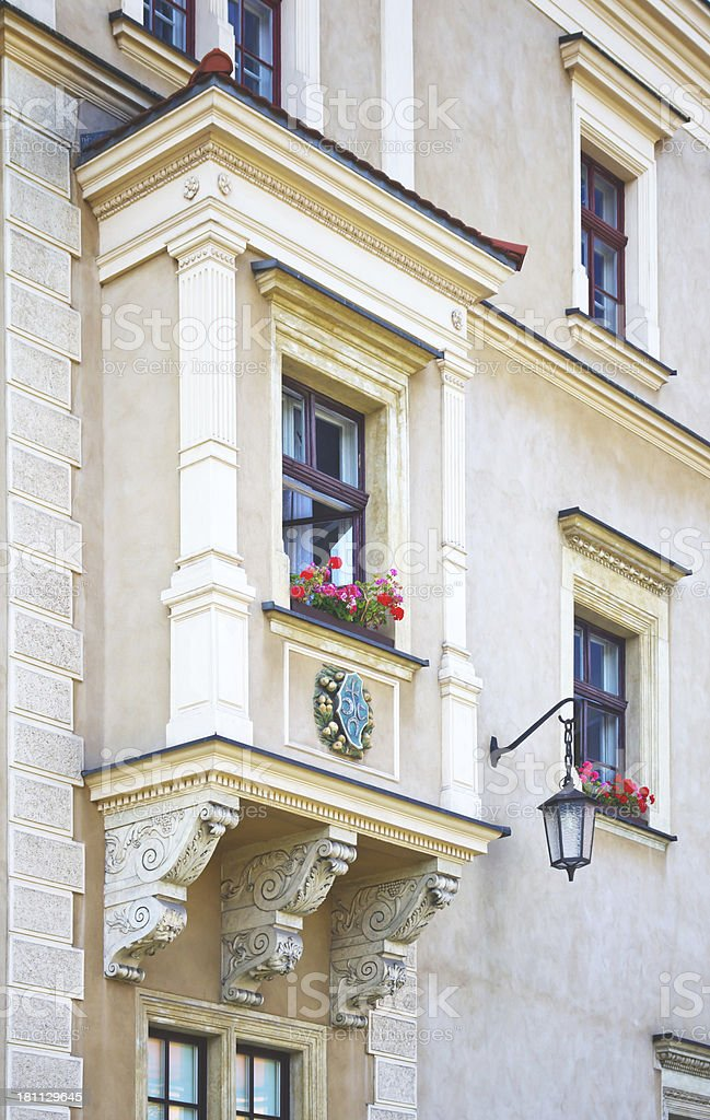 Facade of townhouse royalty-free stock photo