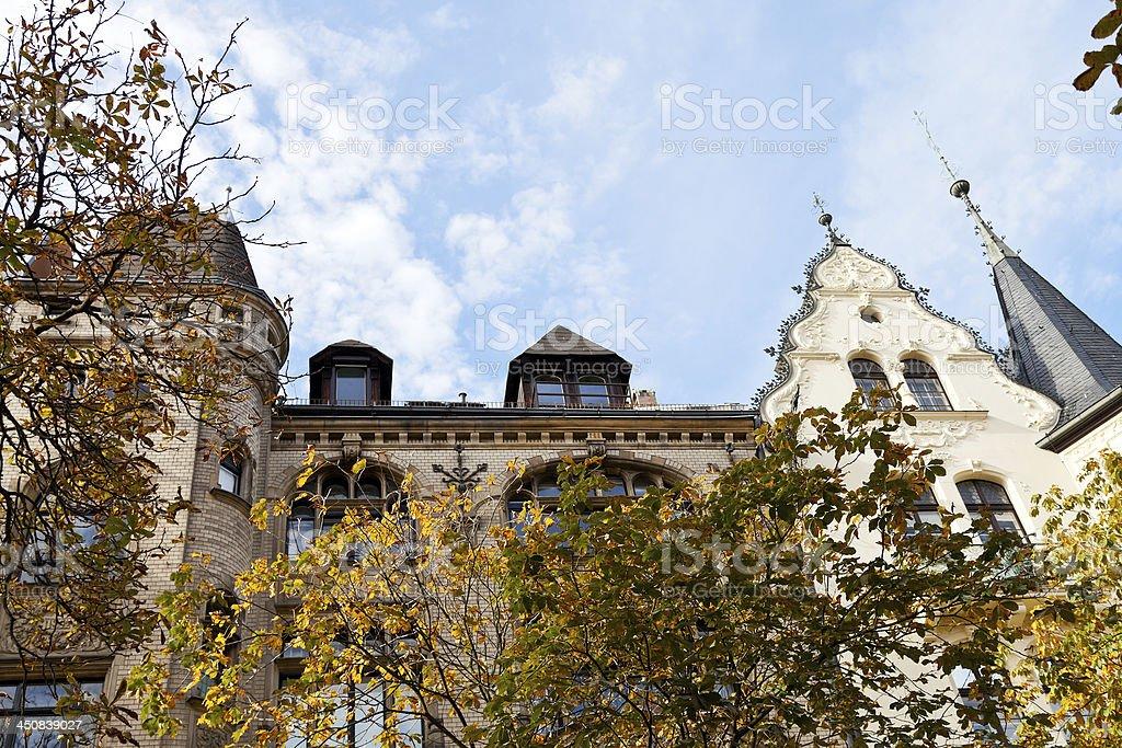 facade of urban villa 19th century in Berlin royalty-free stock photo