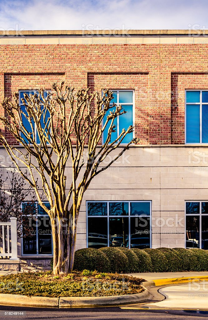 Facade on an office building stock photo