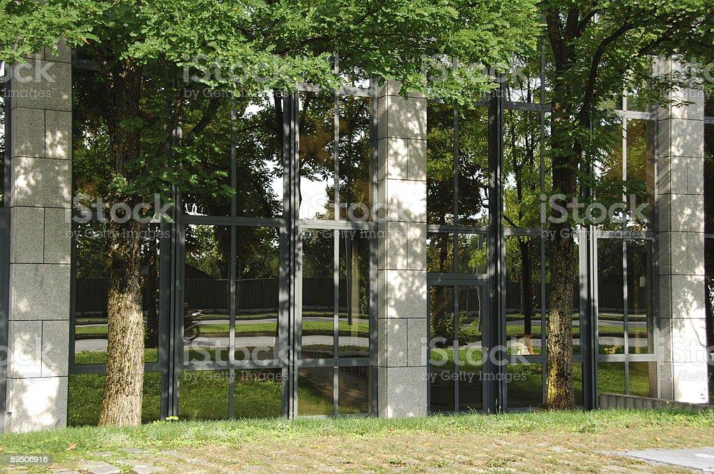facade reflecting royalty-free stock photo