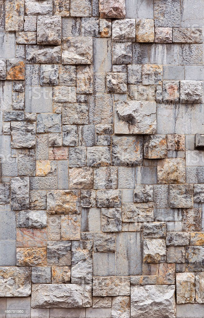 Facade wall of the National Library in Ljubljana, Slovenia stock photo