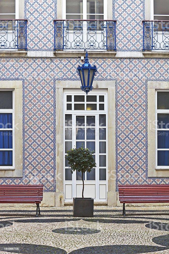 Facade with tiles stock photo