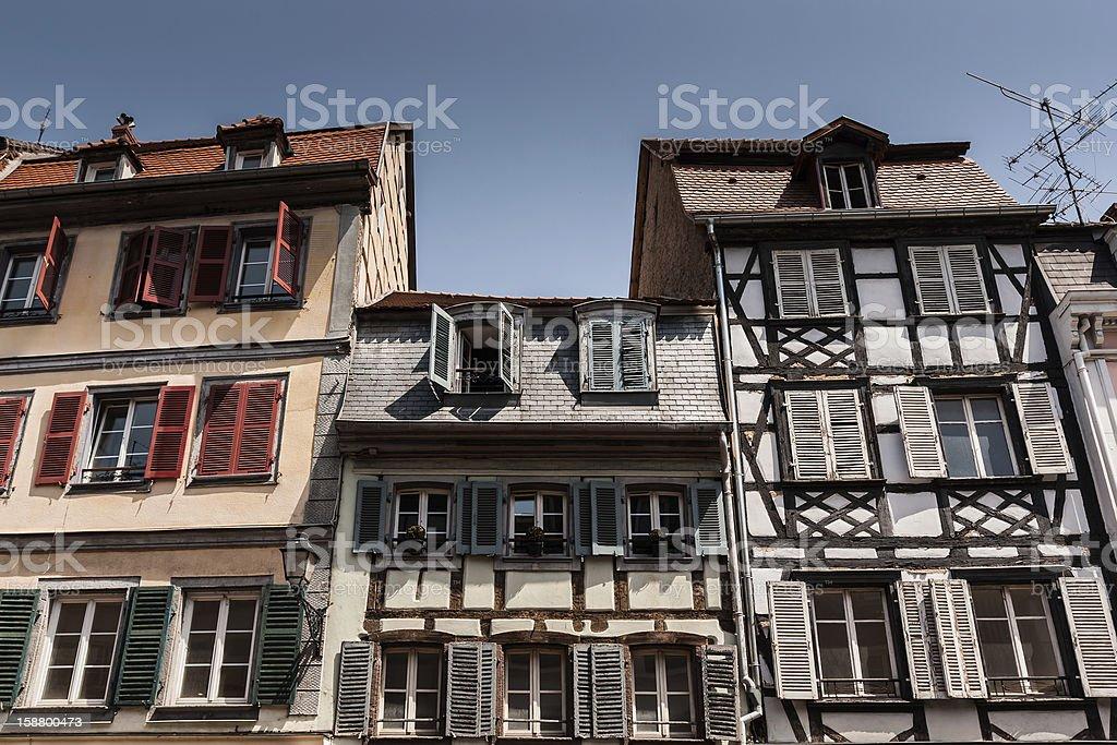 Facades - Colmar, France royalty-free stock photo