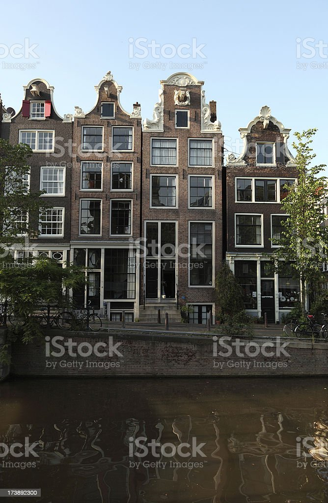 Facades from 17th  century Houses in Amsterdam royalty-free stock photo