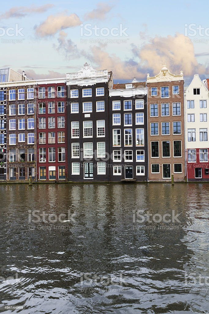 facades of historic buildings, Amsterdam royalty-free stock photo
