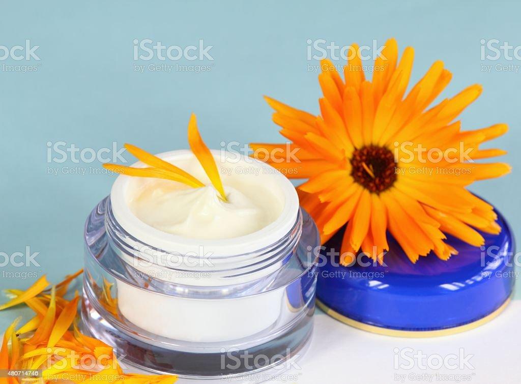 Face and body cream stock photo