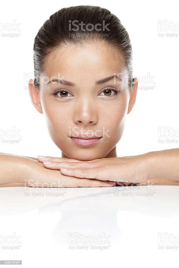 Face beauty skin care royalty-free stock photo
