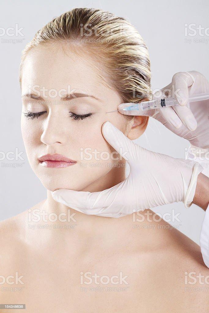 face botox stock photo