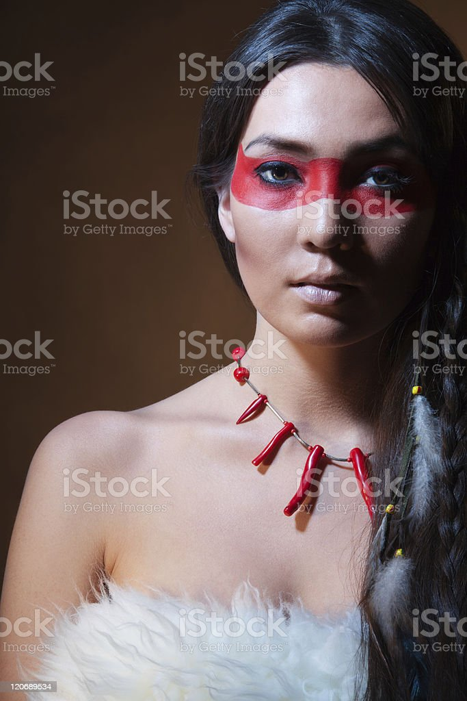 face camouflage stock photo