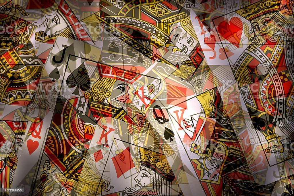 Face Cards royalty-free stock photo