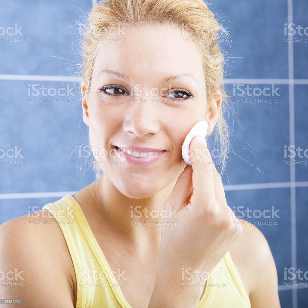 Face cleaning royalty-free stock photo