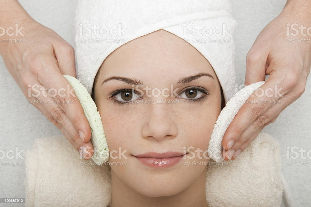 Face Cleansing royalty-free stock photo
