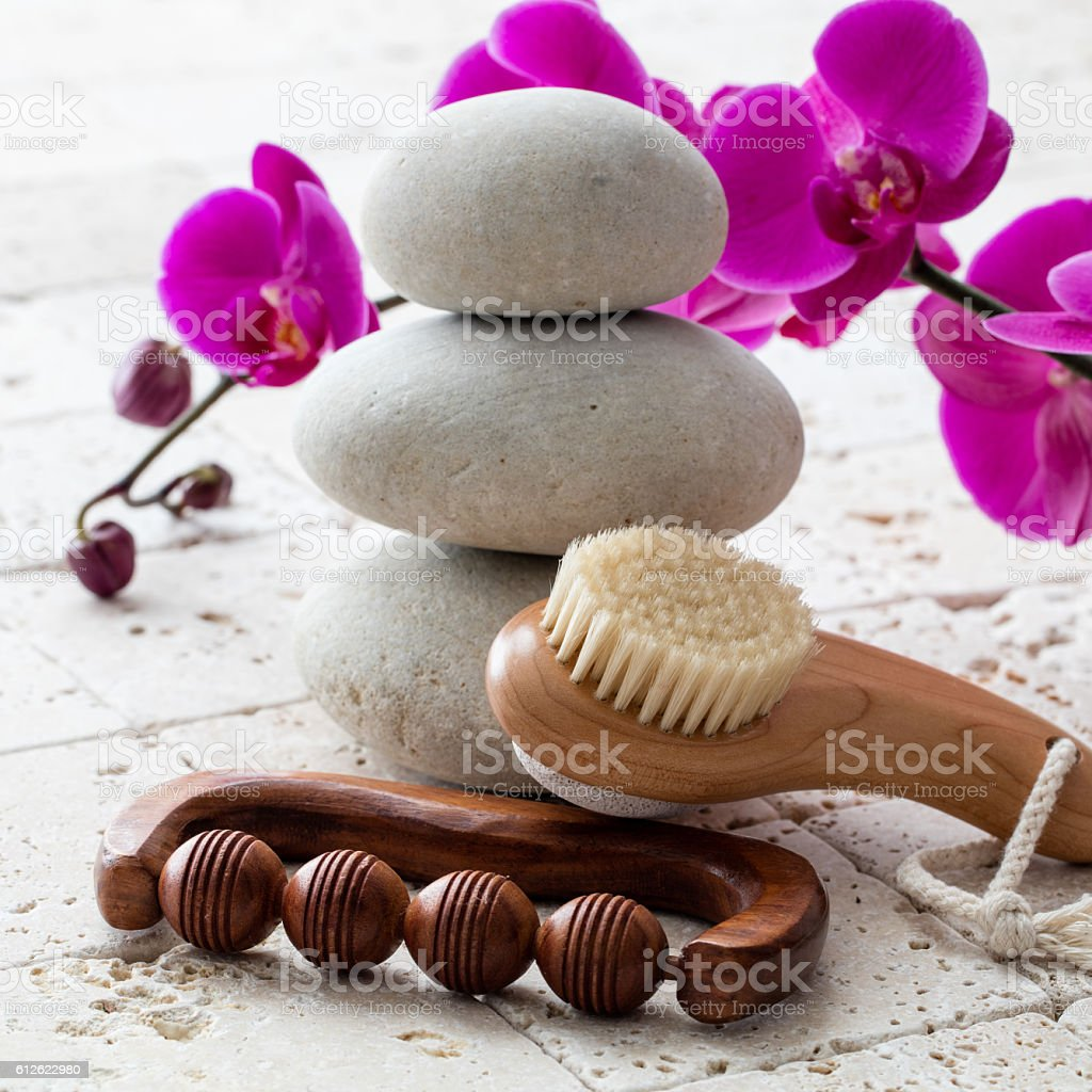 face complexion massage and balance for clean and zen facial stock photo