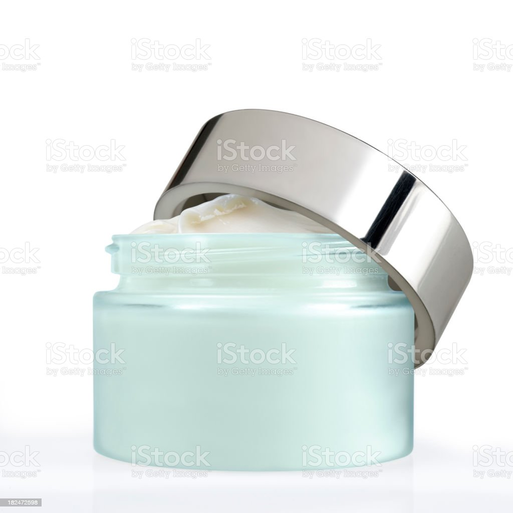 Face cream jar stock photo