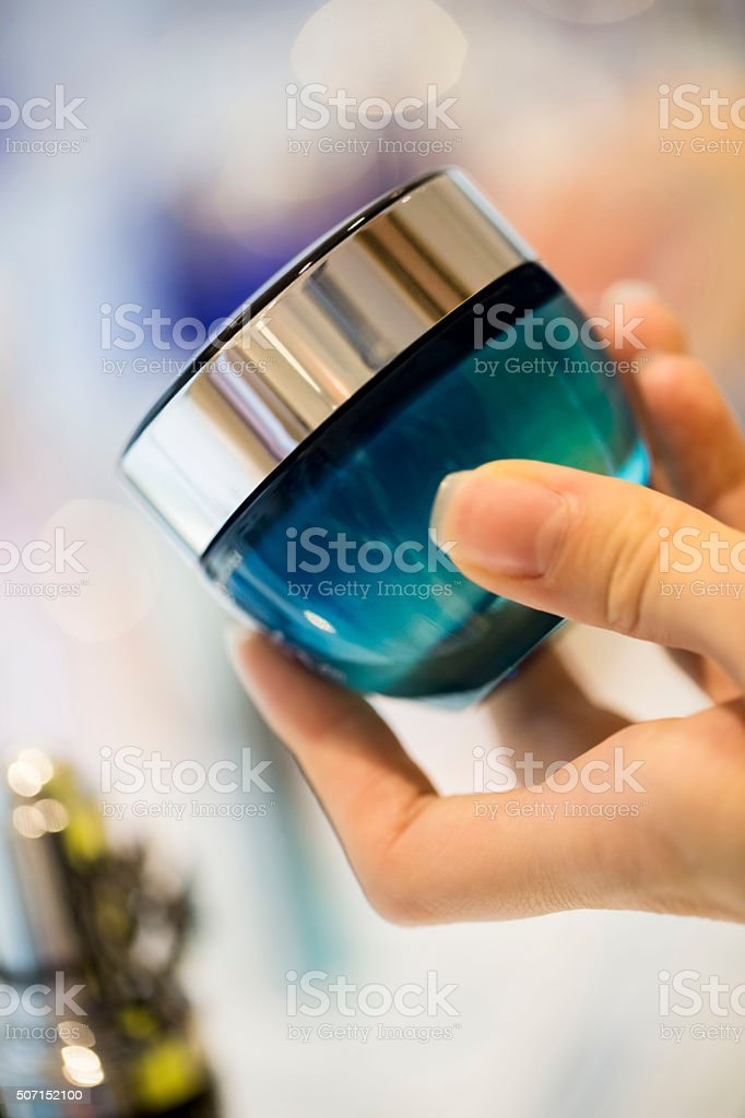 Face cream stock photo