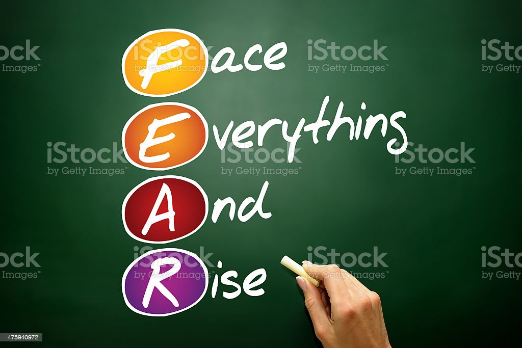 Face Everything And Rise stock photo