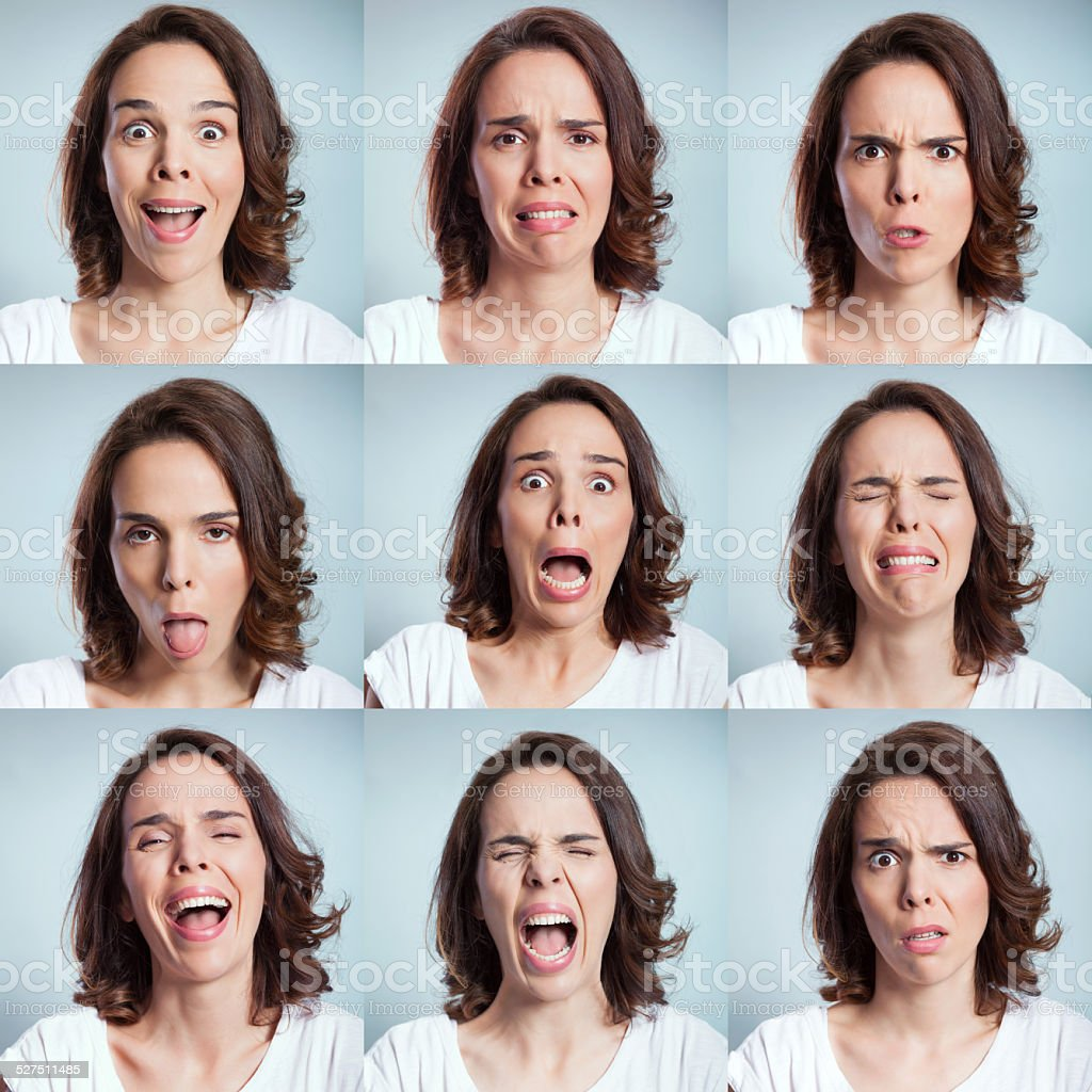 Face expressions stock photo