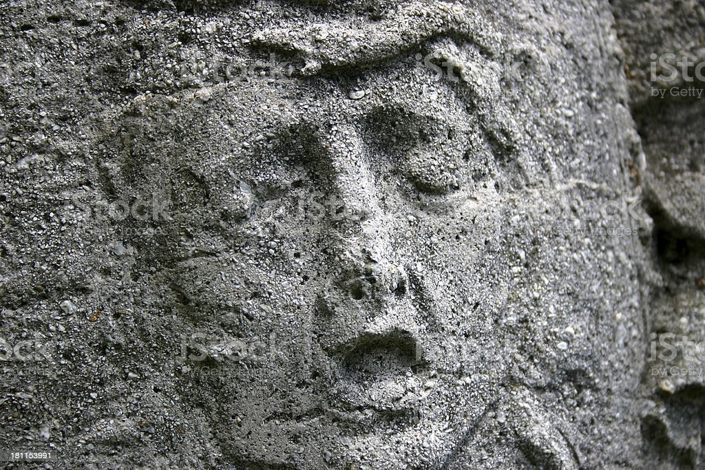 Face from Stone stock photo
