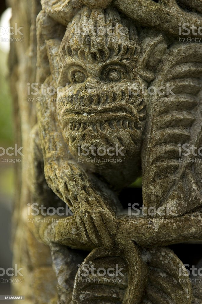 Face in carving royalty-free stock photo