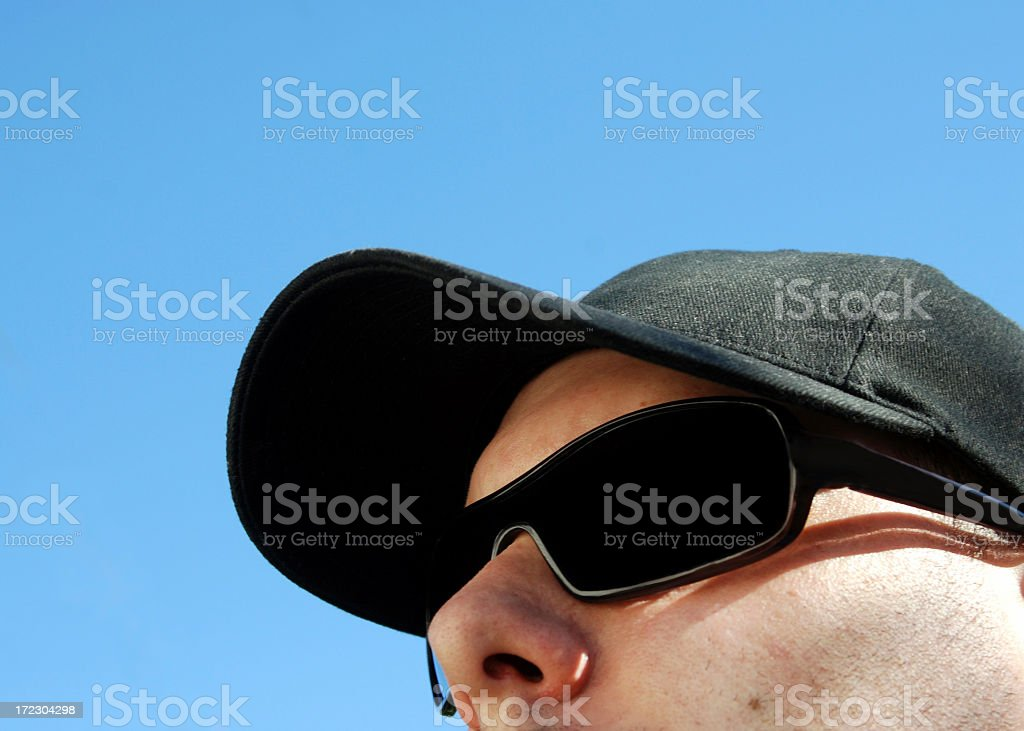 Face in the sunshine royalty-free stock photo