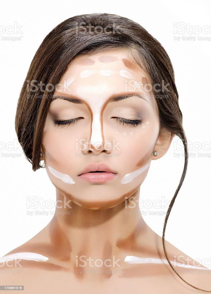 face makeup: foundation royalty-free stock photo