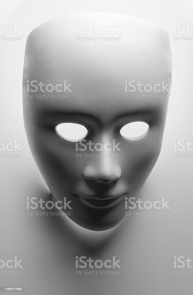 face mask on white background stock photo