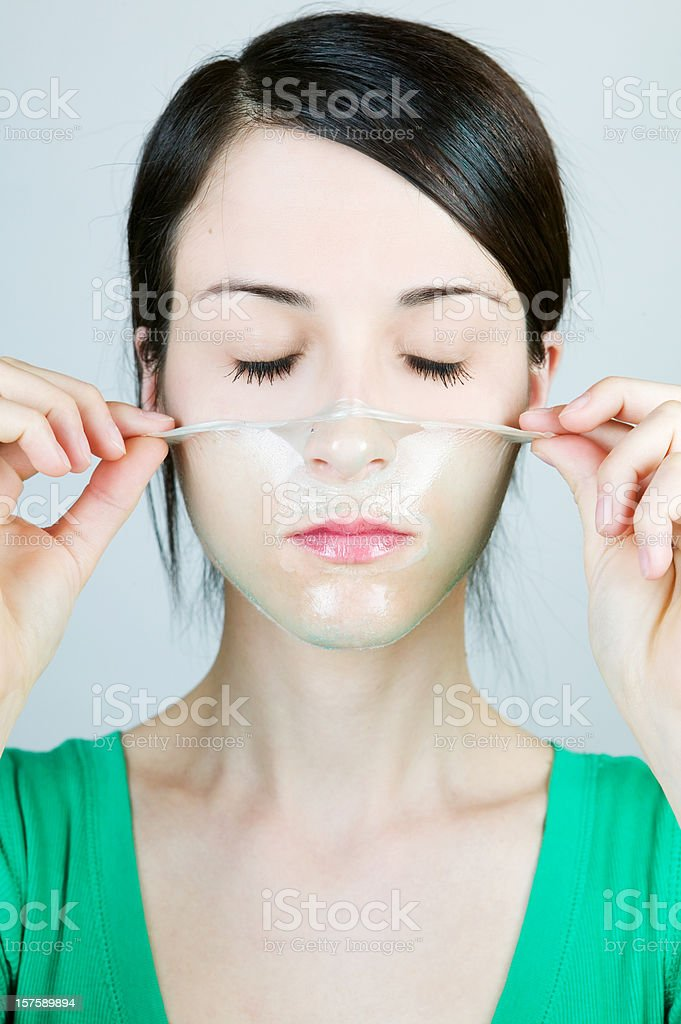 Face mask royalty-free stock photo