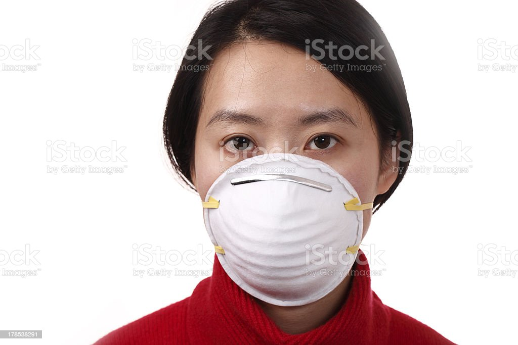 N95 face mask stock photo