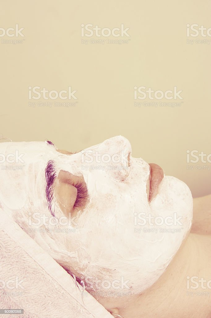 Face Mask Thoughts royalty-free stock photo
