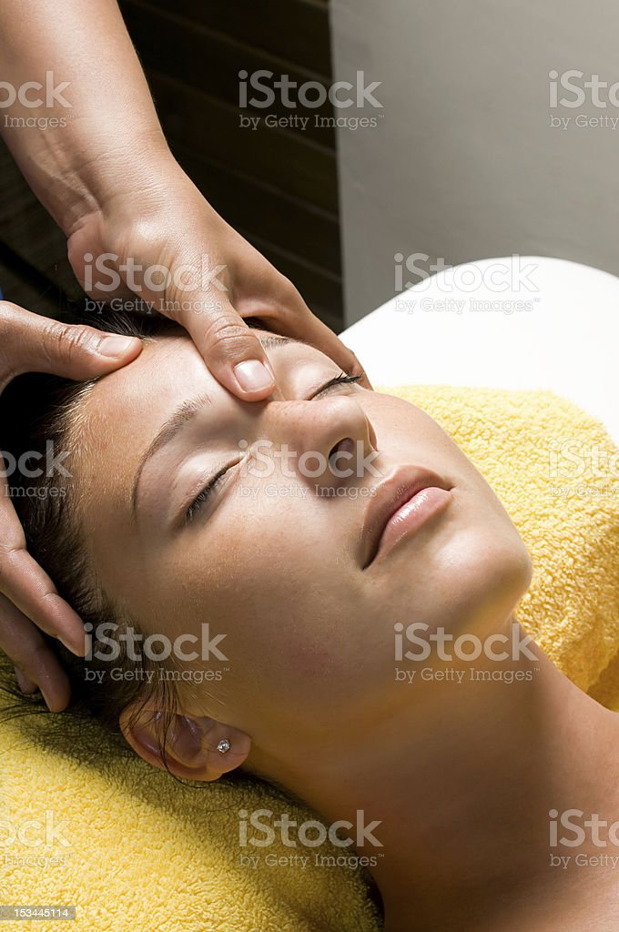 Face Massage Close-up stock photo