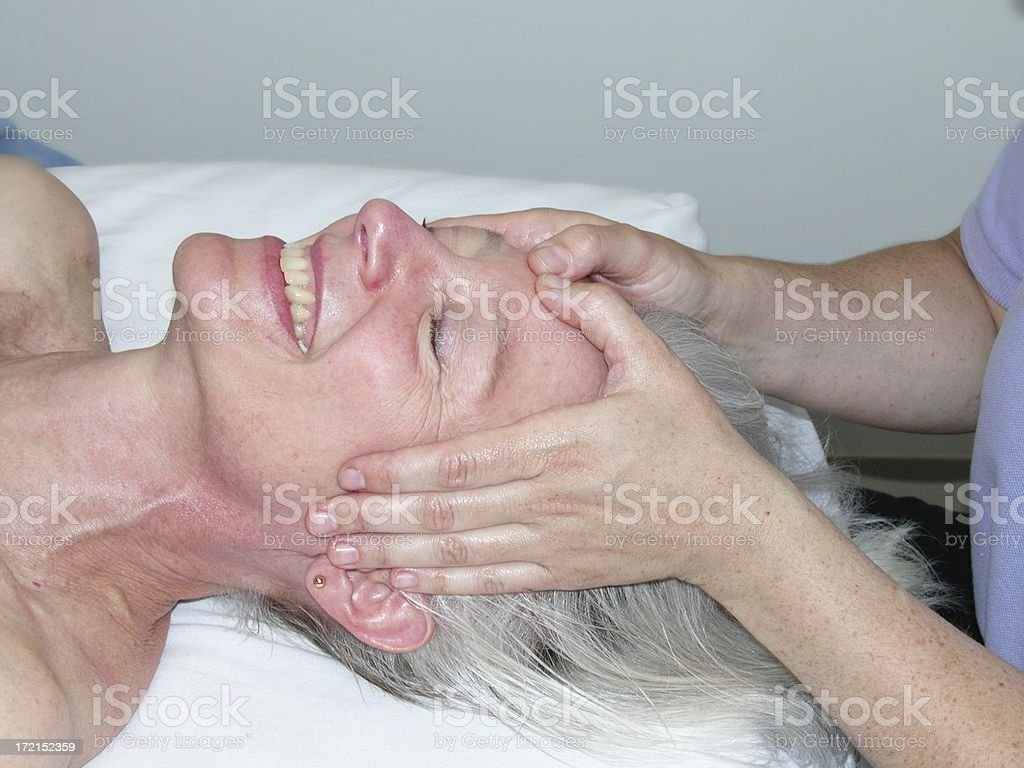 Face massage royalty-free stock photo
