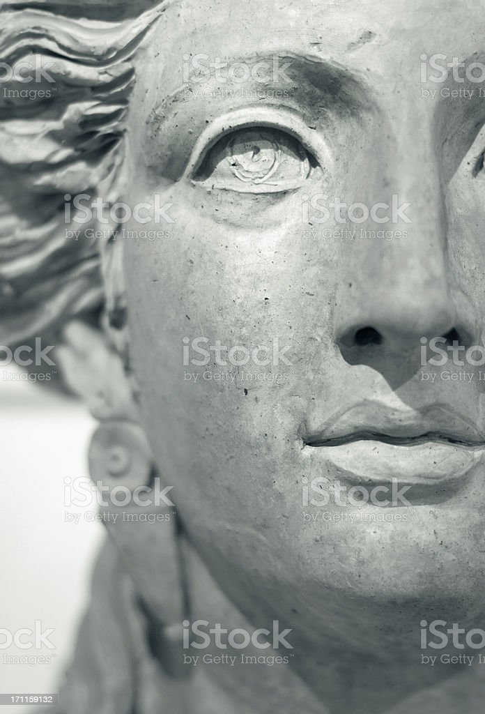 Face of a ancient roman woman royalty-free stock photo