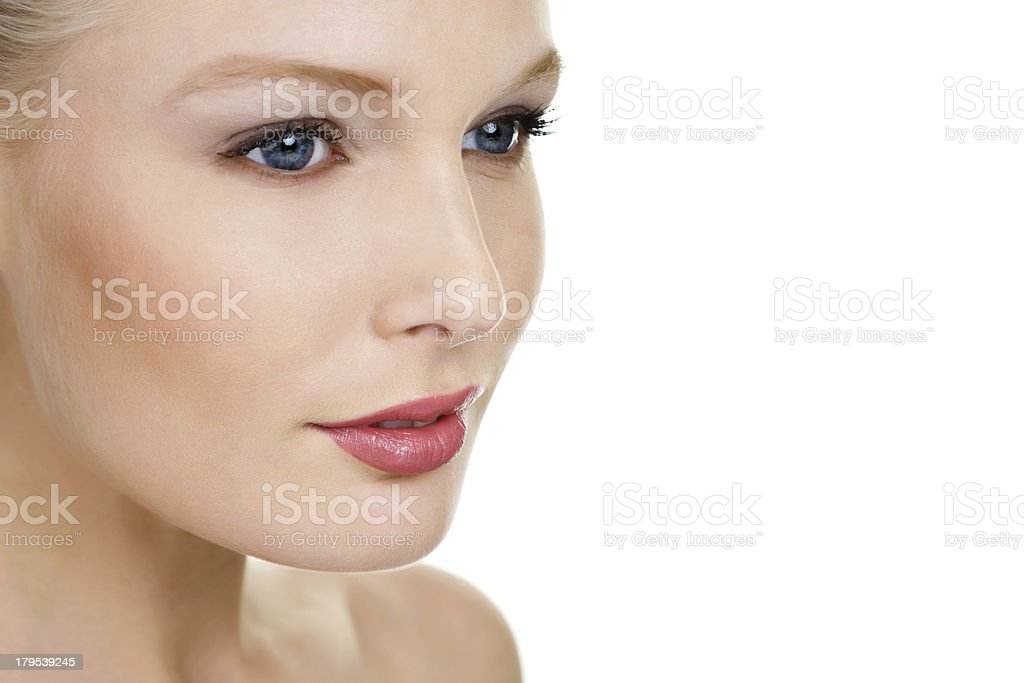 Face of a beautiful woman royalty-free stock photo
