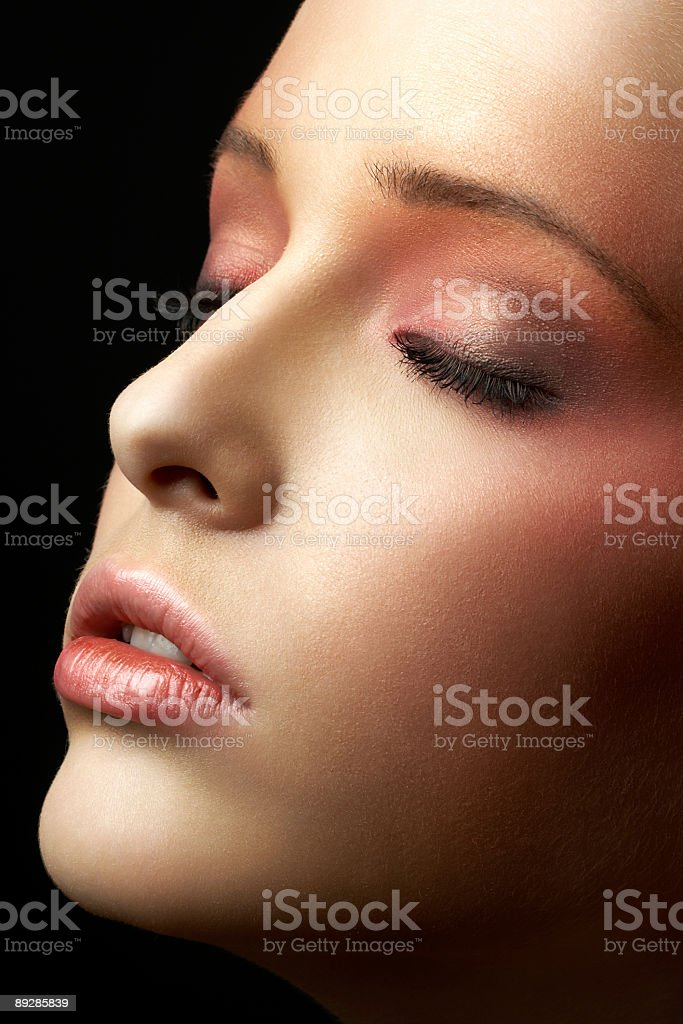Face of a beauty royalty-free stock photo