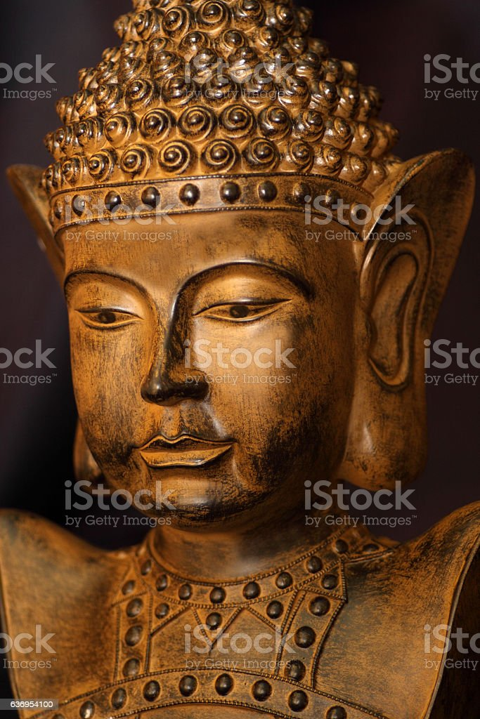 Face of a Buddha stock photo