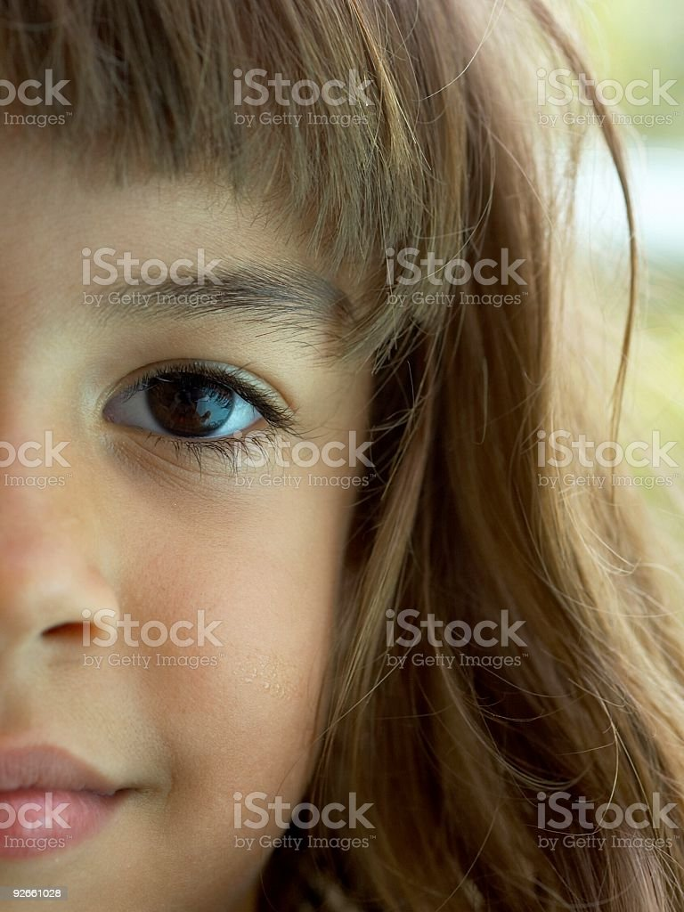 Face of a Child stock photo