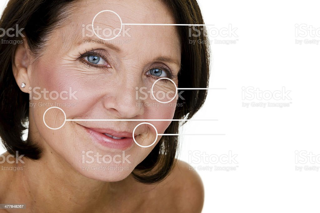 Face of a mature woman stock photo