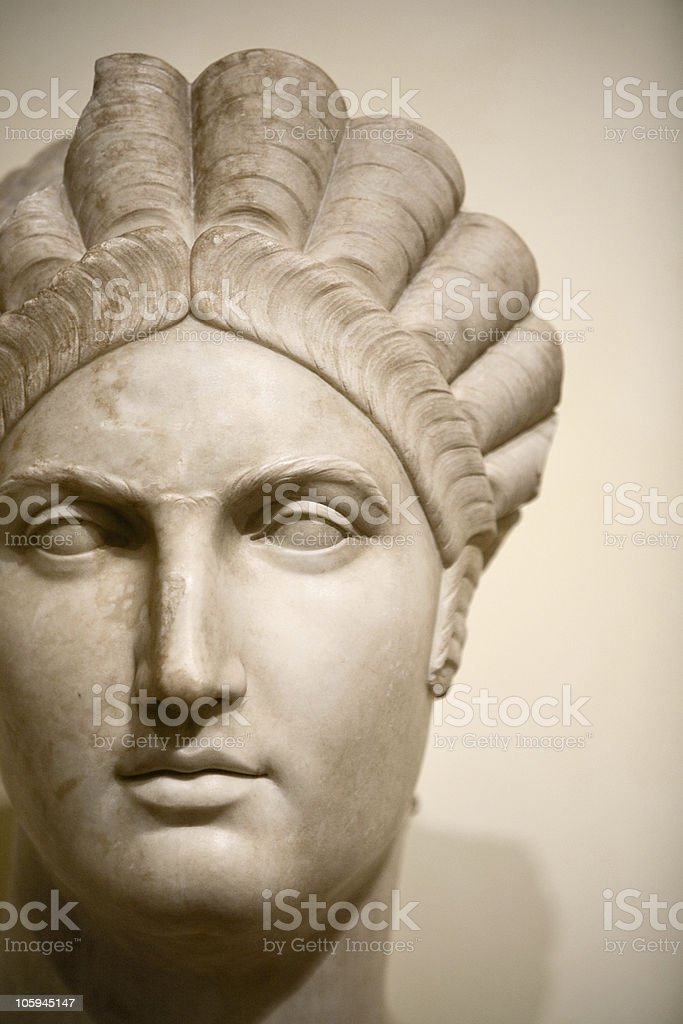 Face of a roman woman royalty-free stock photo