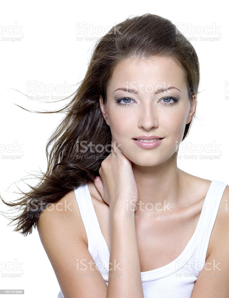 Face of a sexy beautiful young woman royalty-free stock photo