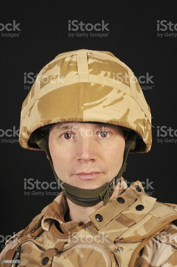 Face of a Soldier stock photo