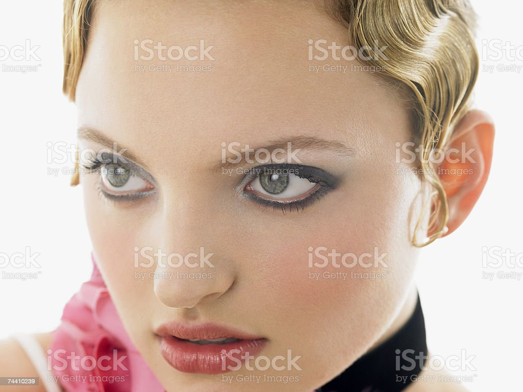Face of a woman royalty-free stock photo