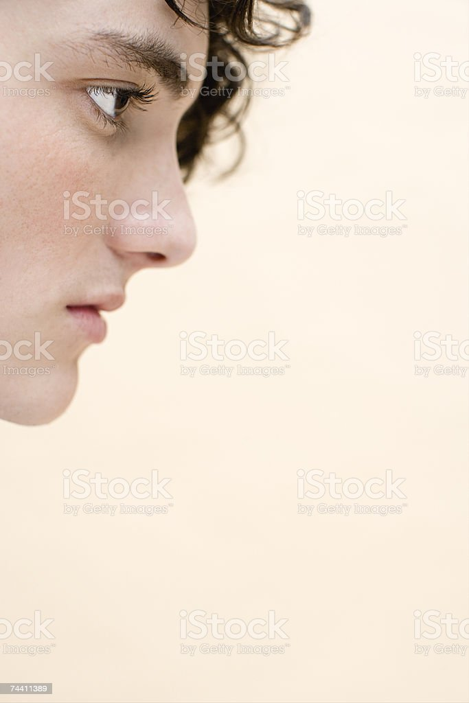 Face of a young man stock photo