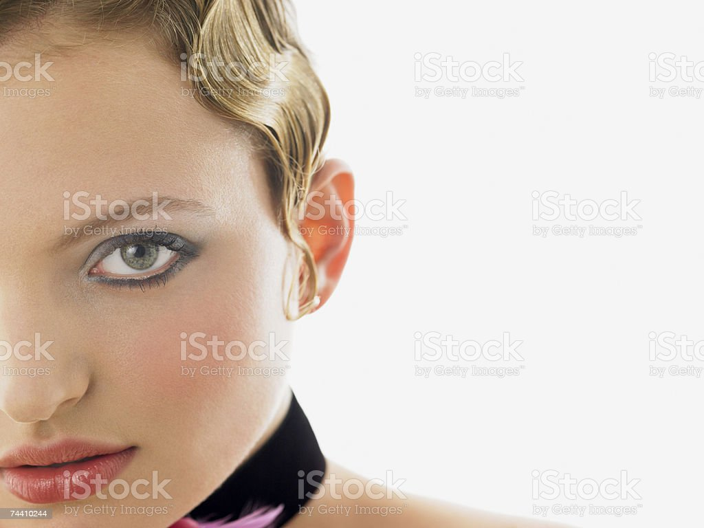 Face of a young woman stock photo