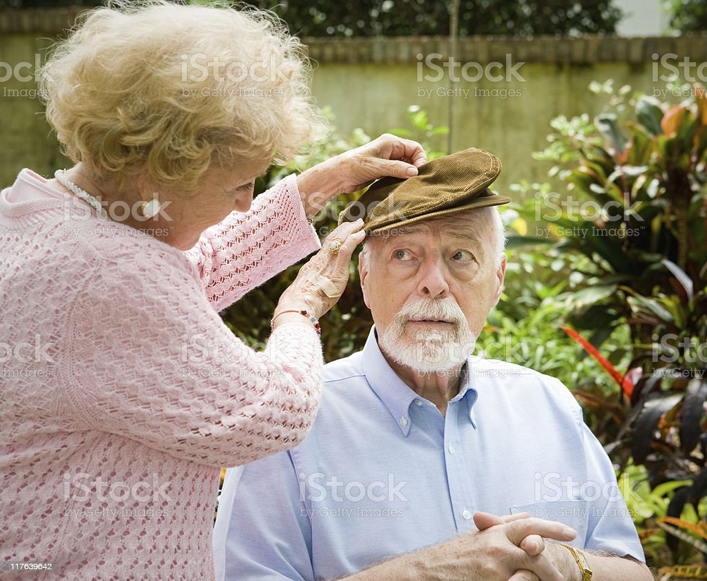 Face of Alzheimers Disease stock photo