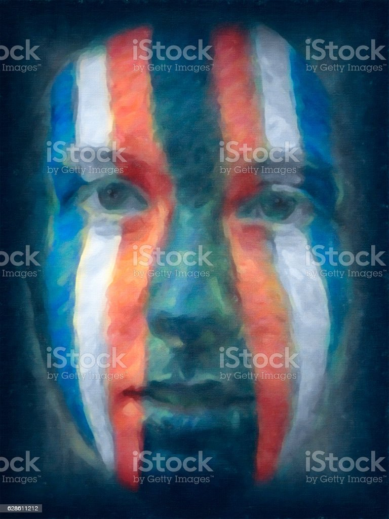 Face of America painting by nkbimages stock photo